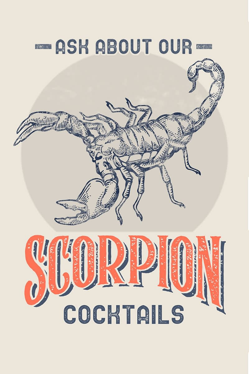 Real Scorpion Cocktails